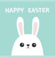 happy easter white bunny rabbit head face picaboo vector image vector image