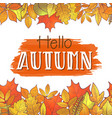 hello autumn borders vector image