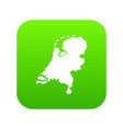 holland map icon digital green vector image vector image