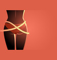 ideal woman waist with measuring tape vector image
