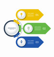 infographic semi circle template with 3 arrows vector image vector image