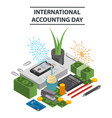 international accounting day concept background vector image vector image