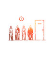 job interview queue vector image vector image