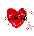 Love heart Save the date vector image