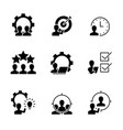 management black icons on white icon vector image vector image