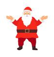 Merry santa claus smiling cartoon old man in