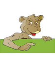 monkey pointing at blank banner vector image