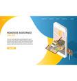 online roadside assistance landing page website vector image vector image