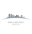 Philadelphia Pennsylvania city skyline silhouette vector image vector image