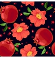 Pomegranate and Flowers Seamless Pattern vector image vector image