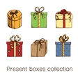 Present boxes collection vector image vector image