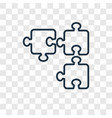 puzzle concept linear icon isolated on vector image