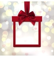 red square banner in form gift vector image
