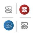 respirator icon vector image