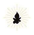 retro fire silhouette logo vector image vector image