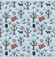 retro style park seamless pattern vector image vector image