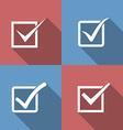 Set of check mark check box icons vector image