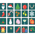 set of twenty Christmas icons vector image