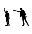silhouettes of people calling taxi vector image