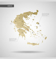 stylized greece map vector image vector image