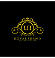 ui letter initial luxurious brand logo template vector image vector image
