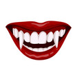 vampire open mouth icon horror teeth symbol vector image vector image