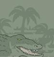 Wild crocodile vector image