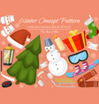 winter holiday time banner card vector image vector image