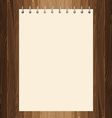 Yellow paper on lath boards vector image vector image