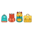 School Bag Set vector image