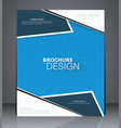 abstract business brochure flyer design vector image