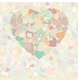 Abstract vintage heart vector image vector image