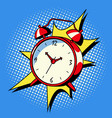 alarm clock ring comic book style vector image vector image