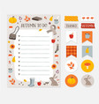 autumn fall wish to do list colorful vector image