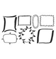 black and white frames card vector image