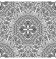 Black and white seamless lace background Pattern vector image vector image