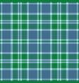 blue and green tartan plaid scottish pattern vector image vector image
