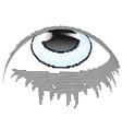 blue eye halftone vector image vector image