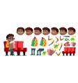 boy schoolboy kid black afro american vector image vector image