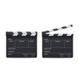 clapperboard realistic style set movie and cinema vector image vector image