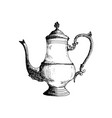 coffeepot hand drawn sketch vector image vector image