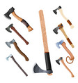 color image set ax a set simple axe vector image vector image