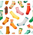 colored socks seamless pattern stylish woolen vector image vector image