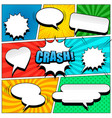 comic book page template vector image
