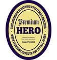 Courage beer label vector image