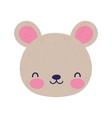 cute bear face little animal cartoon isolated vector image vector image