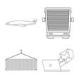 design goods and cargo sign collection vector image vector image
