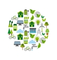ecology and Green idea design vector image