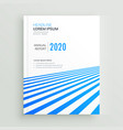 elegant business brochure poster design with blue vector image vector image