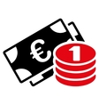 Euro money icon vector image